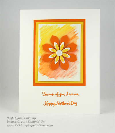 Stampin' Up! Watercolor Pencils swaps shared by Dawn Olchefske #dostamping (Lynn Feldkamp)
