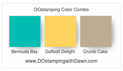 Stampin' Up! Bermuda Bay, Daffodil Delight, Crumb Cake #dostamping