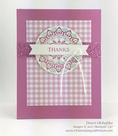 Stampin' Up! Sale-a-Bration Make a Medallion card created by Dawn Olchefske for DOstamperSTARS Thursday Challenge #DSC219 #dostamping
