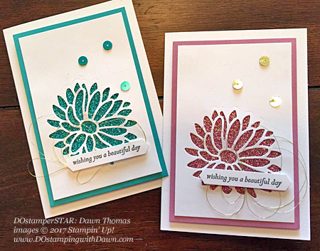 Stampin' Up! DOstamper STARS Friday Feature cards shared by Dawn Olchefske #dostamping (Special Reason Bundle & Glimmer-Dawn Thomas)