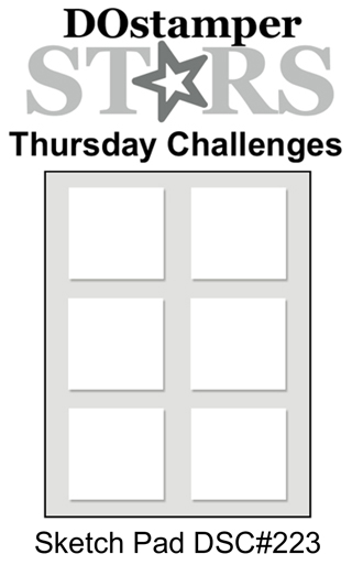 DOstamperSTARS Thursday Challenge #223-Sketch Pad