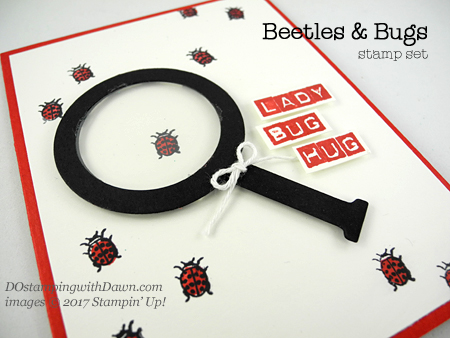 Stampin' Up! Beetles & Bugs punch art shared by Dawn Olchefske #dostamping