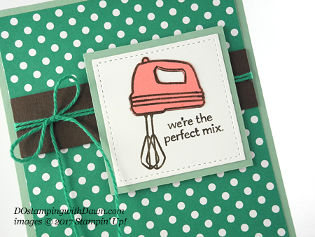 Stampin' Up! Perfect Mix card shared by Dawn Olchefske #dostamping