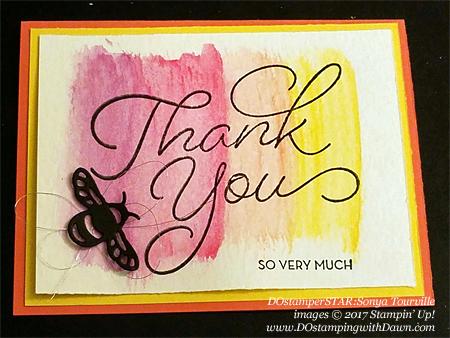 Stampin' Up! DOstamper STARS Friday Featurecards shared by Dawn Olchefske #dostamping (Sonya Tourville)