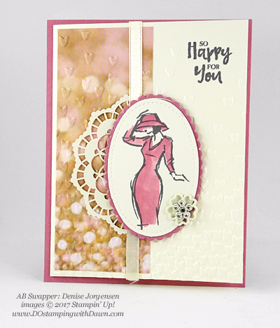 Stampin' Up! Beautiful You swap cards shared by Dawn Olchefske #dostamping (Denise Jorgensen)