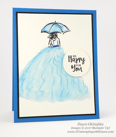 Stampin' Up! Watercolor PencilRuffles Beautiful You card by Dawn Olchefske for DOstamperSTARS Thursday Challenge #DSC222 #dostamping