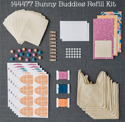 Bunny Buddies Paper Pumpkin March 2017 Refill Kit, Shop with Dawn O #dostamping