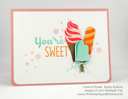 Stampin' Up! Cool Treats Bundle & Suiteswap cards shared by Dawn Olchefske #dostamping (Becky Roberts)