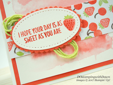 Stampin' Up! Cool Treats Suitewith Watercolor Wash Technique card shared by Dawn Olchefske #dostamping