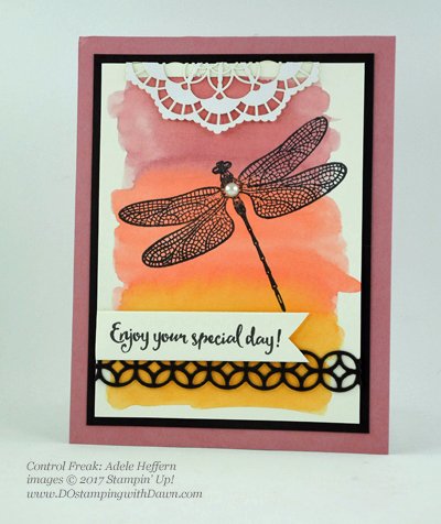Stampin' Up! Dragonfly Dreams bundle swap cards shared by Dawn Olchefske #dostamping (Adele Heffern)