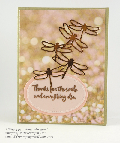 Stampin' Up! Dragonfly Dreams bundle swap cards shared by Dawn Olchefske #dostamping (Janet Wakeland)