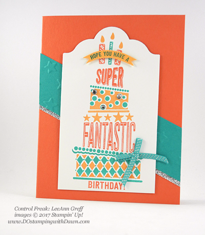 Stampin' Up! Cake Crazy swap cards shared by Dawn Olchefske #dostamping (LeeAnn Greff)