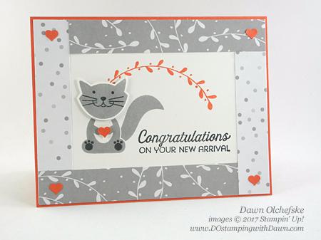Stampin' Up! A Little Foxy suite card created by Dawn Olchefske for DOstamperSTARS Thursday Challenge #DSC227 #dostamping