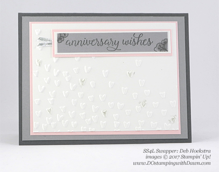 Stampin' Up! Falling for You swap cards shared by Dawn Olchefske #dostamping (Deb Hoekstra)