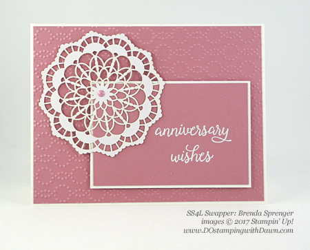 Stampin' Up! So in Love swap cards shared by Dawn Olchefske #dostamping (Brenda Sprenger)
