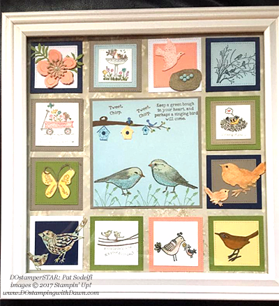 Stampin' Up! bird decor shared by Dawn Olchefske #dostamping (DOstamperSTAR Pat Sodeifi