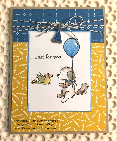 Stampin' Up! Bella & Friends card shared by Dawn Olchefske #dostamping (DOstamperSTAR: Victoria Stevens)