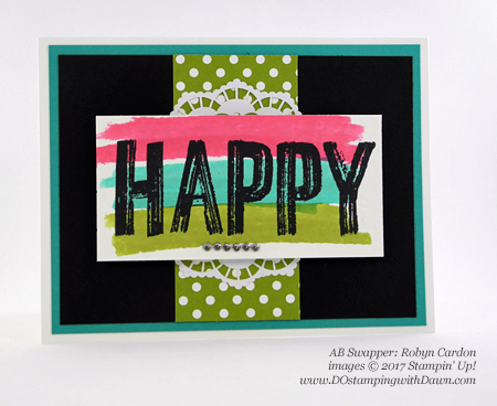 Stampin' Up! Celebrations Duo Textured Impressions Embossing Folders swap cards shared by Dawn Olchefske #dostamping (Robyn Cardon)