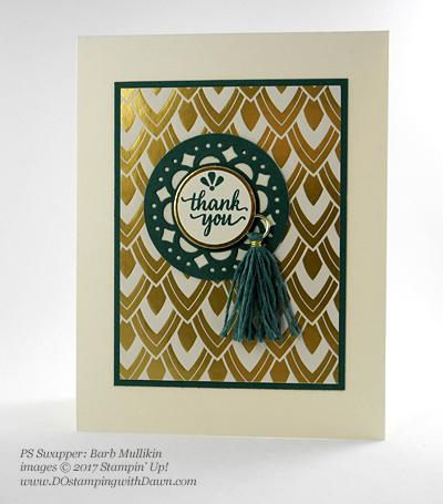 Stampin' Up! Eastern Palace Bundleswap cards shared by Dawn Olchefske #dostamping (Barb Mullikin)