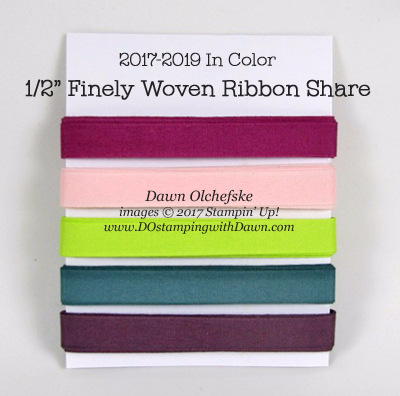2017-2018 In Color Ribbon Share offered by Dawn Olchefske #dostamping