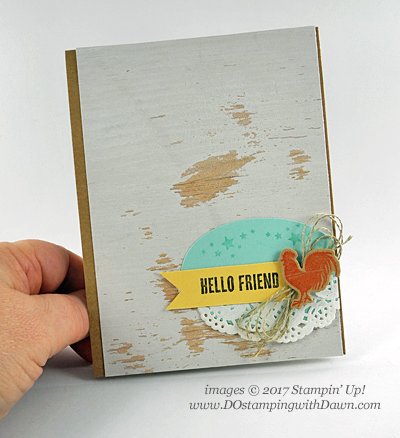 Stampin' Up! Wood Textures Suite: includes Wood Words stamp set, Wood Crate Framelits Dies, Wood Textures Designer Series Paper shared by Dawn Olchefske #dostamping
