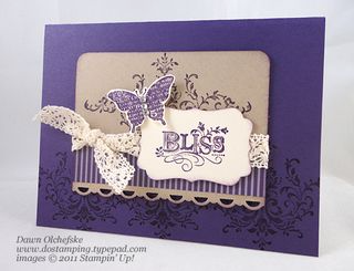 Stampin' Up! Retiring Decorative Label Punch shared by Dawn Olchefske #dostamping