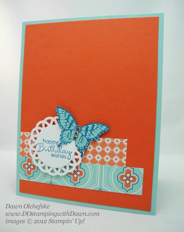 Stampin' Up! Retiring Elegant Butterfly Punch shared by Dawn Olchefske #dostamping