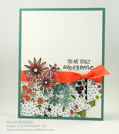 Stampin' Up! Grateful Bunch card by Dawn Olchefske for Control Freak Blog Tour #dostamping