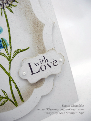 Stampin' Up! decorative label punch trick #dostamping
