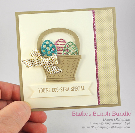 Stampin' Up! Retiring Basket Builder Framelit Dies card created by Dawn Olchefske #dostamping