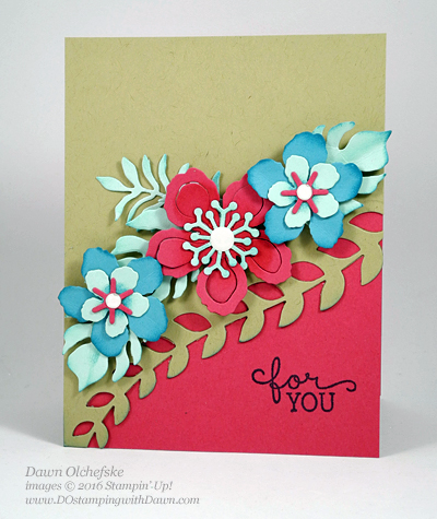 Stampin' Up! Retiring Botanical Builder Framlits card created by Dawn Olchefske  #dostamping