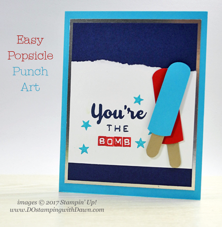 Use Stampin' Up! Pretty Label Punch to create popsicle fun!  Shared by Dawn Olchefske #dostamping
