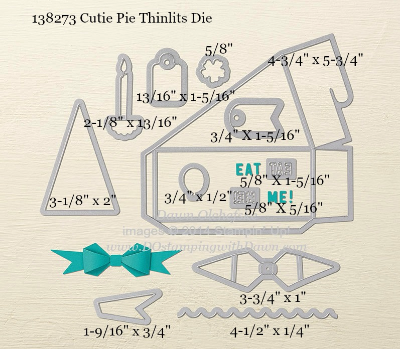 Cutie Pie Thinlit Dies sizes shared by Dawn Olchefske #dostamping #stampinup
