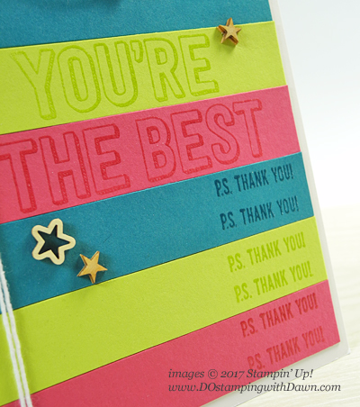 Stampin' Up! rewards set You're Delightful card shared by Dawn Olchefske #dostamping