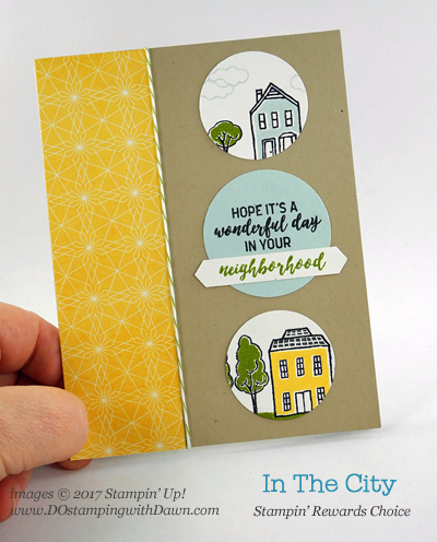 Stampin' Up! In the City (host set) card shared by Dawn Olchefske #dostamping