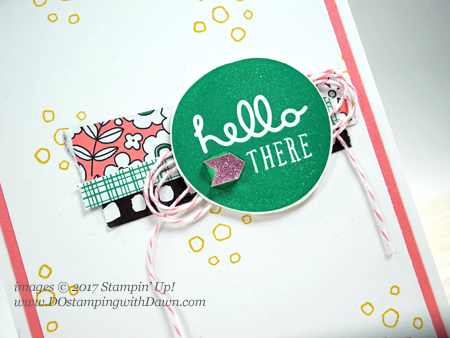 Stampin' Up! Pieces & Patterns card using up DSP scraps shared by Dawn Olchefske #dostamping