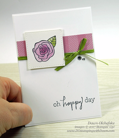 Stampin' Up! Happiest of Days Note Cards created by Dawn Olchefske Control Freak Tour #dostamping