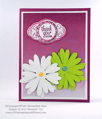Stampin' Up! Delightful Daisy Bundle swap cards shared by Dawn Olchefske #dostamping (Bernadette Baio)