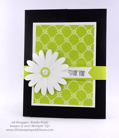Stampin' Up! Delightful Daisy Bundle swap cards shared by Dawn Olchefske #dostamping (Ronda Wade)