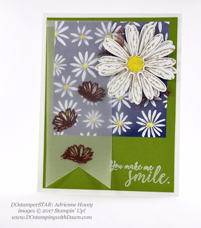 Stampin' Up! Delightful Daisy Bundle swap cards shared by Dawn Olchefske #dostamping (Adrienne Hovey)