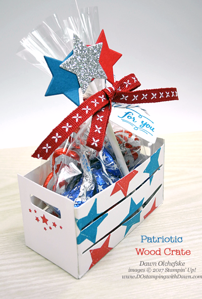 Stampin' Up! patriotic Wood Words Bundle craft by Dawn Olchefske for DOstamperSTARS Thursday Challenge #DSC237 #dostamping