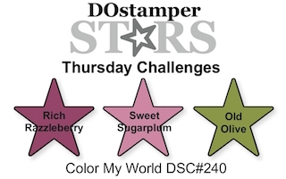 DOstamper STARS Thursday Challenge DSC#240 - Color My World #dostamping