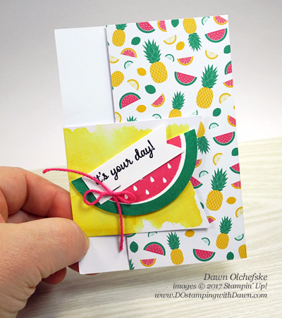 Paper Pumpkin One in a Melon projects by Dawn Olchefske #dostamping