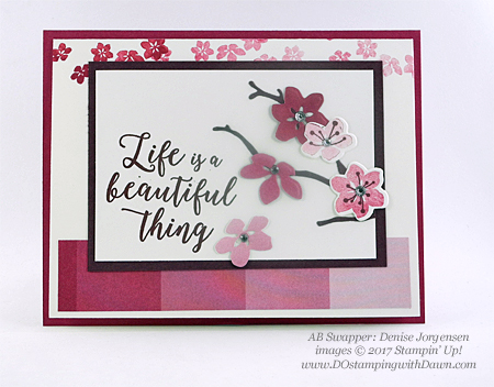 Stampin' Up! Color Theory & Seasonal Layers Thinlits samples shared by Dawn Olchefske #dostamping (Denise Jorgensen)