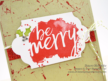 Stampin' Up! Every Good Wish (2017 Holiday Catalo) card by Dawn Olchefske for DOstamperSTARS Thursday Challenge #DSC242 #dostamping (Rolling Marble Technique)