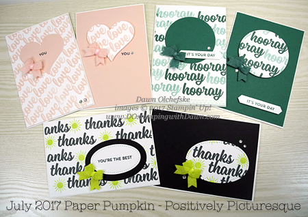 Positively Picturesque July 2017 Paper Pumpkin Alternatives by Dawn Olchefske #dostamping