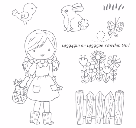 Stampin' Up! Garden Girl stamp set | Shop with Dawn O | #dostamping