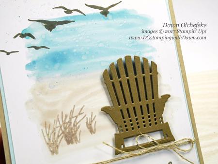 Create a seaside landscape with Stampin' Up! Seasonal Layers Framelit, Colorful Seasons Bundle, High Tide by Dawn Olchefske #dostamping