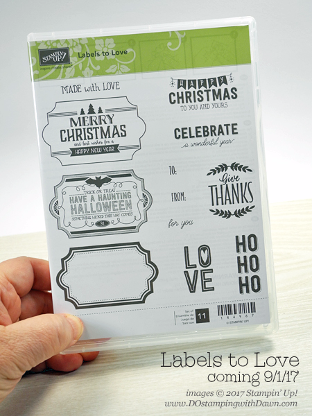 Stampin' Up! Labels to Love from 2017 Holiday Catalog, Dawn Olchefske #dostamping