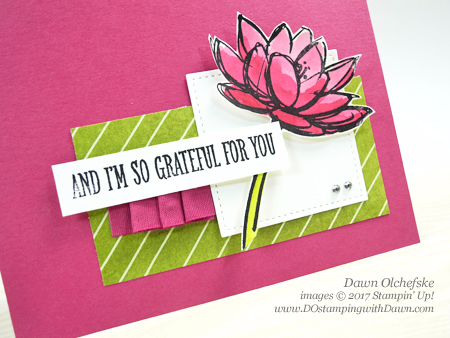 Stampin' Up! Remarkable You card by Dawn Olchefske #dostamping